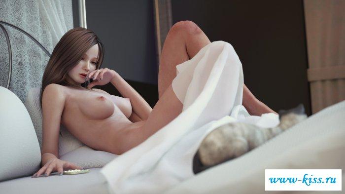 Откровенные незнакомки на кровати
